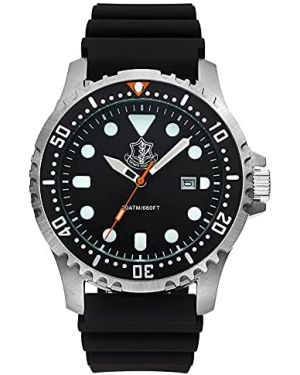 Israeli IDF (Tzahal) 20ATM Diving Watch - 44mm Stainless steel case