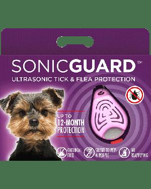 SonicGuard PET Ultrasonic tick and flea repeller for pets-Pink