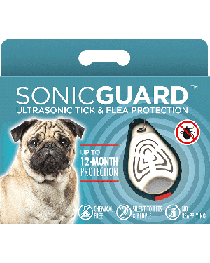 SonicGuard PET Ultrasonic tick and flea repeller for pets-Beige