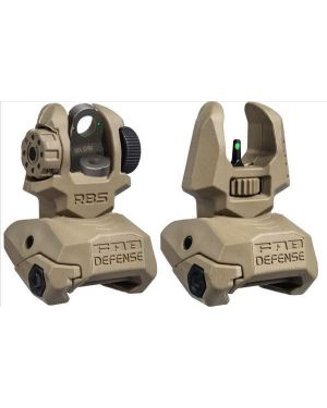 Front and Rear Set of Flip-up Sights with Tritium - 2 Rear Dots - FDE
