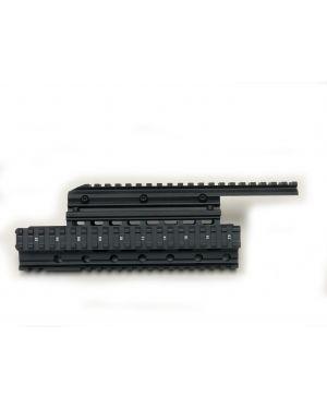 Extended Quad-Rail Handguard for AK Rifles