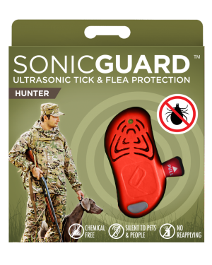 SonicGuard HUNTER Ultrasonic tick and flea repeller for hunters-Orange