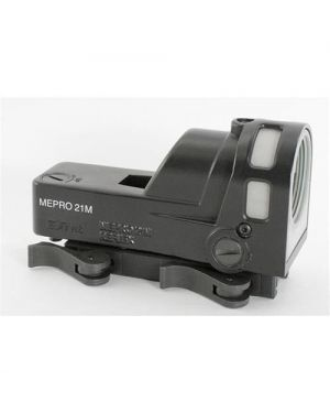 Mepro M21 Self-Powered Day/Night Reflex Sight with Dust Cover - X - X Reticle