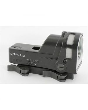 Mepro M21 Self-Powered Day/Night Reflex Sight with Dust Cover - D5 - 5.5 MOA Reticle