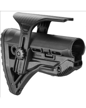 Recoil-reducing M4/AR-15 Style Stock w/adjustable cheek-piece - Black