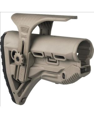 Recoil-reducing M4/AR-15 Stock and adjustable cheekpiece - Flat Dark Earth