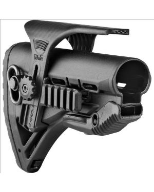 Recoil-reducing M4/AR-15 Stock and adjustable cheekpiece with Picatinny Rail - GL-ShockPCP