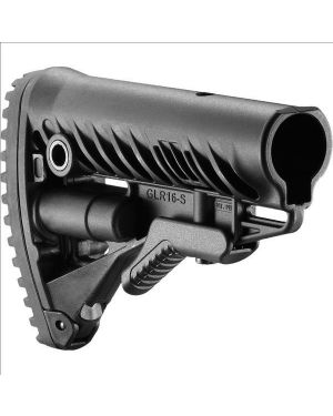 M4/AR-15 Stock with Battery Storage and Rubber Buttpad - Black