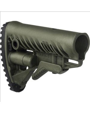 M4/AR-15 Stock with Battery Storage and Rubber Buttpad - OD Green