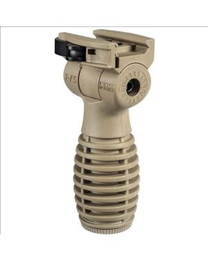 """Horizontal """"Side-to-Side"""" Folding Grip with Battery Compartment - Flat Dark Earth"""