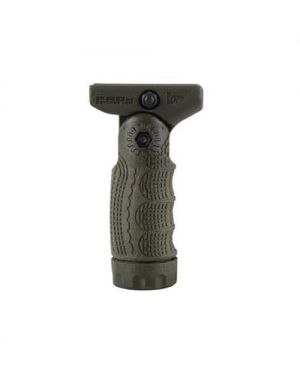 7-Position Tactical Folding Grip with Waterproof Storage - Quick Release - TFLQR - OD Green