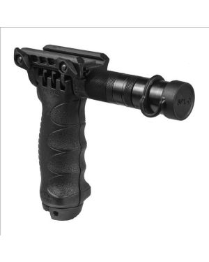 Tactical Foregrip with Integrated Adjustable Bipod and incorporated flashlight - Gen 2 - Black
