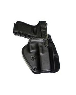 Three-Layer - Synthetic Material, Kydex, Suede - Paddle Holster - HK P7 - Black - Left
