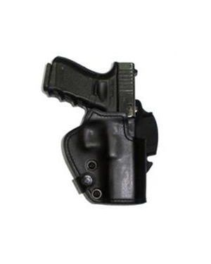 Three-Layer - Synthetic Material, Kydex, Suede - Belt Holster - SKCxx - Glock 17 - Black
