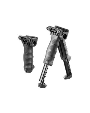 Tactical Vertical Foregrip with Integrated Adjustable Bipod - Gen 2 - T-PodG2QR - Black