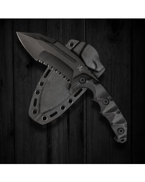 "KOBRA Gen.4 MILSPEC Elite Partially Serrated - Fixed Blade Knife - 9.19"" Long"