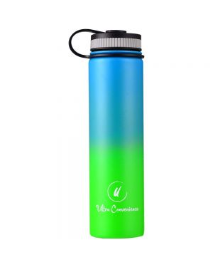 Sports Water Bottle w/ 2 Lids (25 oz.) Wide Mouth, Stainless Steel, Double Walled, Vacuum Insulated | 12 Hours Hot, 24 Cold | Ecofriendly, Leakproof, BPA Free - LAGOON