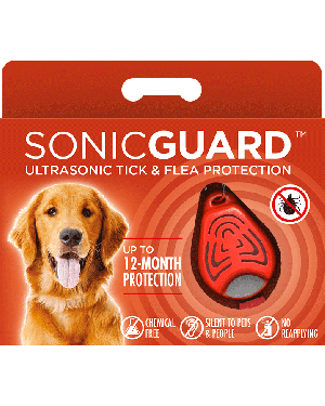 SonicGuard PET Ultrasonic tick and flea repeller for pets-Orange