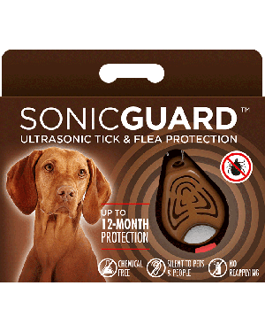 SonicGuard PET Ultrasonic tick and flea repeller for pets-Brown