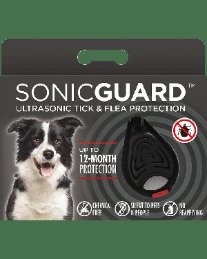 SonicGuard PET Ultrasonic tick and flea repeller for pets-Black