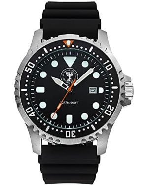 Israeli MOSSAD 20ATM Diving Watch - 44mm Stainless steel case