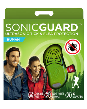 SonicGuard HUMAN Ultrasonic tick and flea repeller for adults, and kids above 6yrs-Green