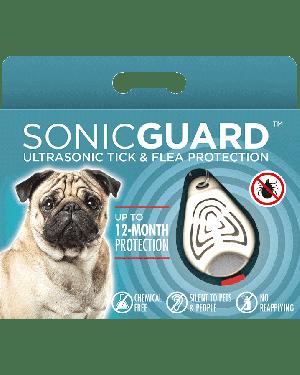 SonicGuard PET Ultrasonic tick and flea repeller for pets-Beige