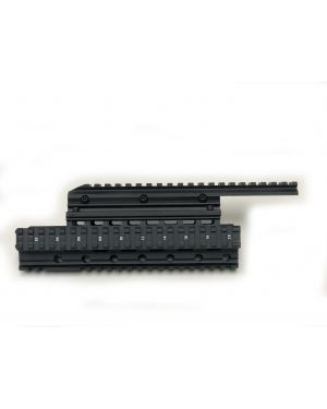 Extended Quad-Rail Handguard for AK Rifles