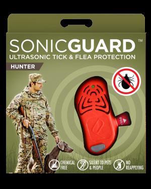 SonicGuard HUNTER Ultrasonic tick and flea repeller for hunters-Orange
