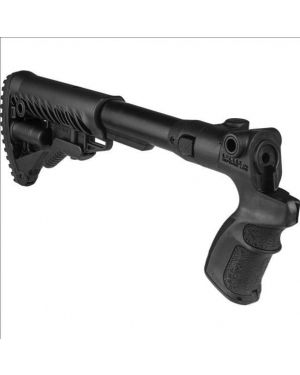 Folding Collapsible Buttstock for Mossberg 500/590 - AGMF500-FK - Black