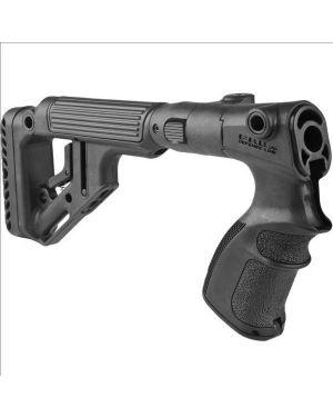 Tactical Folding Buttstock w/Cheekpiece for Remington 870 - Black