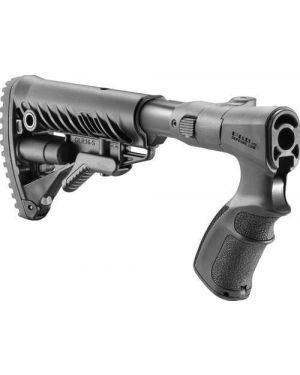 Folding Collapsible Buttstock for Remington 870 - AGRF870-FK - Black