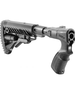 Recoil-Reducing Folding Collapsible Buttstock for Remington 870 - AGRF870-FKSB - Black