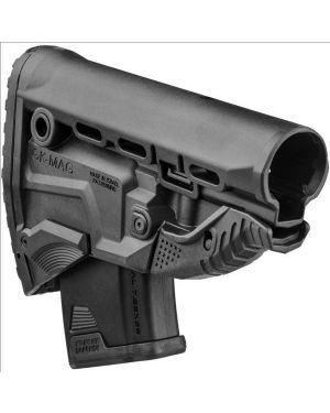 AK-47 Survival Buttstock w/Built-in Magazine Carrier - GK-MAG - Black
