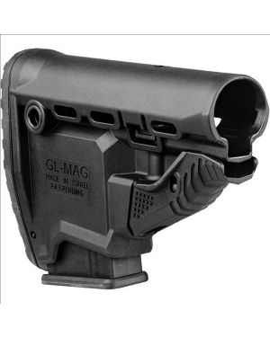 M4/AR-15 Survival Buttstock w/Built-in Magazine Carrier - GL-MAG - Black