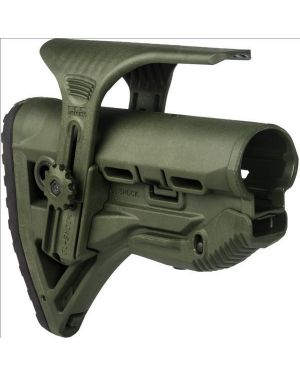 Recoil-reducing M4/AR-15 Stock and adjustable cheekpiece - OD Green