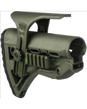 Recoil-reducing M4/AR-15 Stock and adjustable cheek riser with Picatinny Rail - GL-ShockPCP