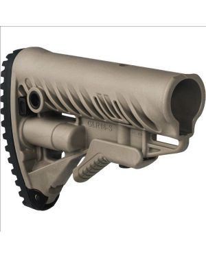 M4/AR-15 Stock with Battery Storage and Rubber Buttpad - Flat Dark Earth