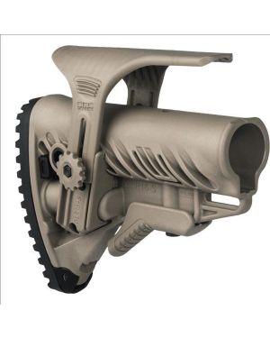 M4/AR-15 Stock with Adjustable Cheek Riser, Battery Storage & Rubber Buttpad - Flat Dark Earth