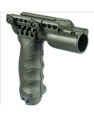 """Tactical Vertical Foregrip with Integrated Adjustable Bipod and 1"""" flashlight adapter - Gen 2 - Olive Drab"""
