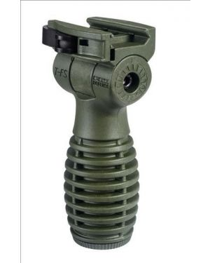 """Horizontal """"Side-to-Side"""" Folding Grip with Battery Compartment - OD Green"""