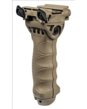 Tactical Pivoting QR Vertical Foregrip with Integrated Adjustable Bipod - Gen 2 - Flat Dark Earth