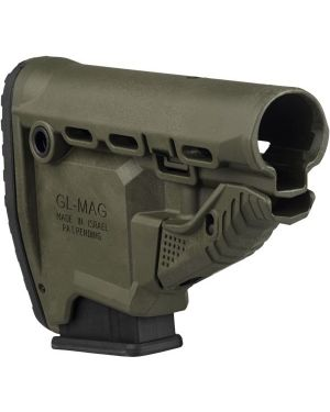 M4/AR-15 Survival Buttstock w/Built-in Magazine Carrier - GL-MAG - OD-Green