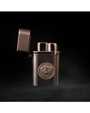 Valentia Cigars Luxury Gunmetal Satin Refillable Butane Triple Torch Desktop Lighter