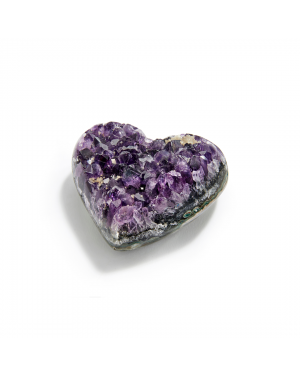 100% Uruguay Polished Amethyst Heart