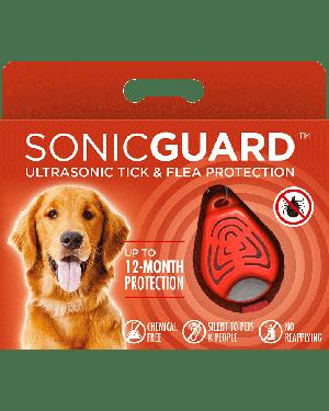 SonicGuard PET Ultrasonic tick and flea repeller for pets-Orange