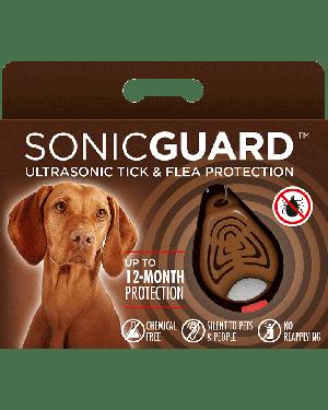 SonicGuard PET Ultrasonic tick and flea repeller for pets-Brown