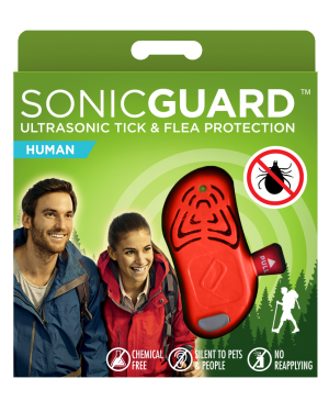 SonicGuard HUMAN Ultrasonic tick and flea repeller for adults, and kids above 6yrs-Orange