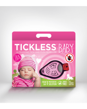 SonicGuard BABY Ultrasonic tick and flea repeller for kids below 6 years old-Pink