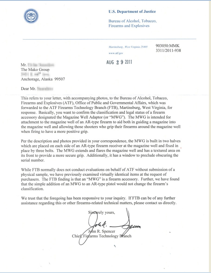 ATF-MWG Letter